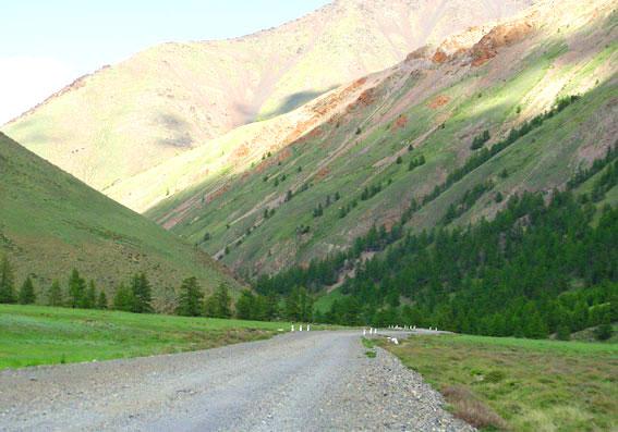 дорога в Монгун-Тайгу